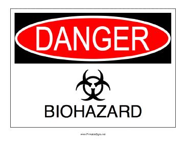 Biohazard Danger