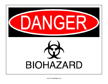 Biohazard Danger