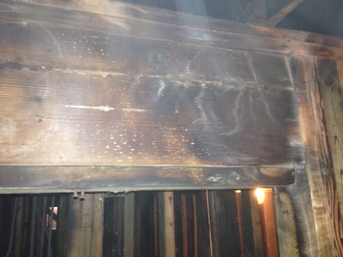 Heavy smoke and fire damage - BEFORE